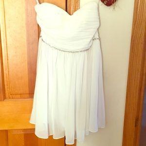 White Dress with Diamond Waist Belt
